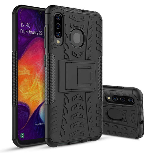 Dual Layer Rugged Tough Case for Samsung Galaxy A20 / A30 / A50 - Black